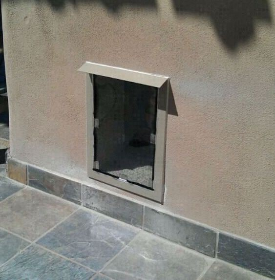 Hale pet door wall dog door installation in stucco wall - Cat door for hollow core door ...